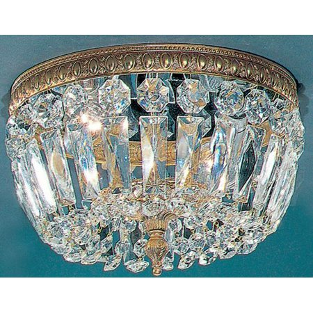 Crystal Baskets 2-Light Ceiling Flush (Silver - Swarovski Strass)