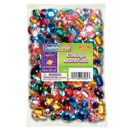 Acrylic Gemstones, 1 lb.