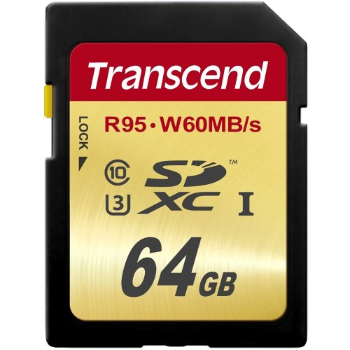 Transcend 64 Gb Secure Digital Extended Capacity [sdxc] - Class 10/uhs-i - 95 Mbps Read - 60 Mbps Write - 1 Card (ts64gsdu3)