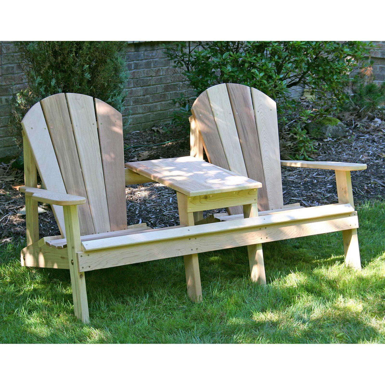 Creekvine Designs Cedar Adirondack Settee by Adirondack Furniture