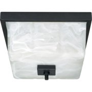 Nuvo Cubica 60/001 2-Light Flush Mount - 11.375W in. - Textured Black