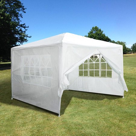Yescom 10X10 White Outdoor Wedding Party Patio  W  Removable Side Wall Canopy For Fetes Event
