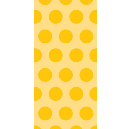 """Club Pack of 240 Yellow Two-Tone Polka Dot Printed Party Cello Bags 14.5"""" - Polka Dot Party"""