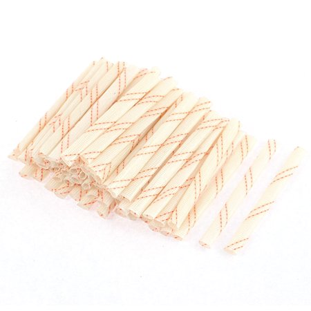 60Pcs 70mmx4mm Flexible Electrical Wire Fiberglass Insulation Sleeves Cable Wrap