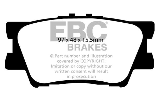 EBC Brakes UD1544 Ultimax Brake Pad
