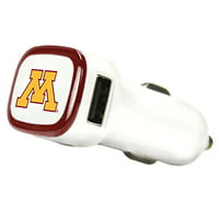 Minnesota Golden Gophers Car Charger, White