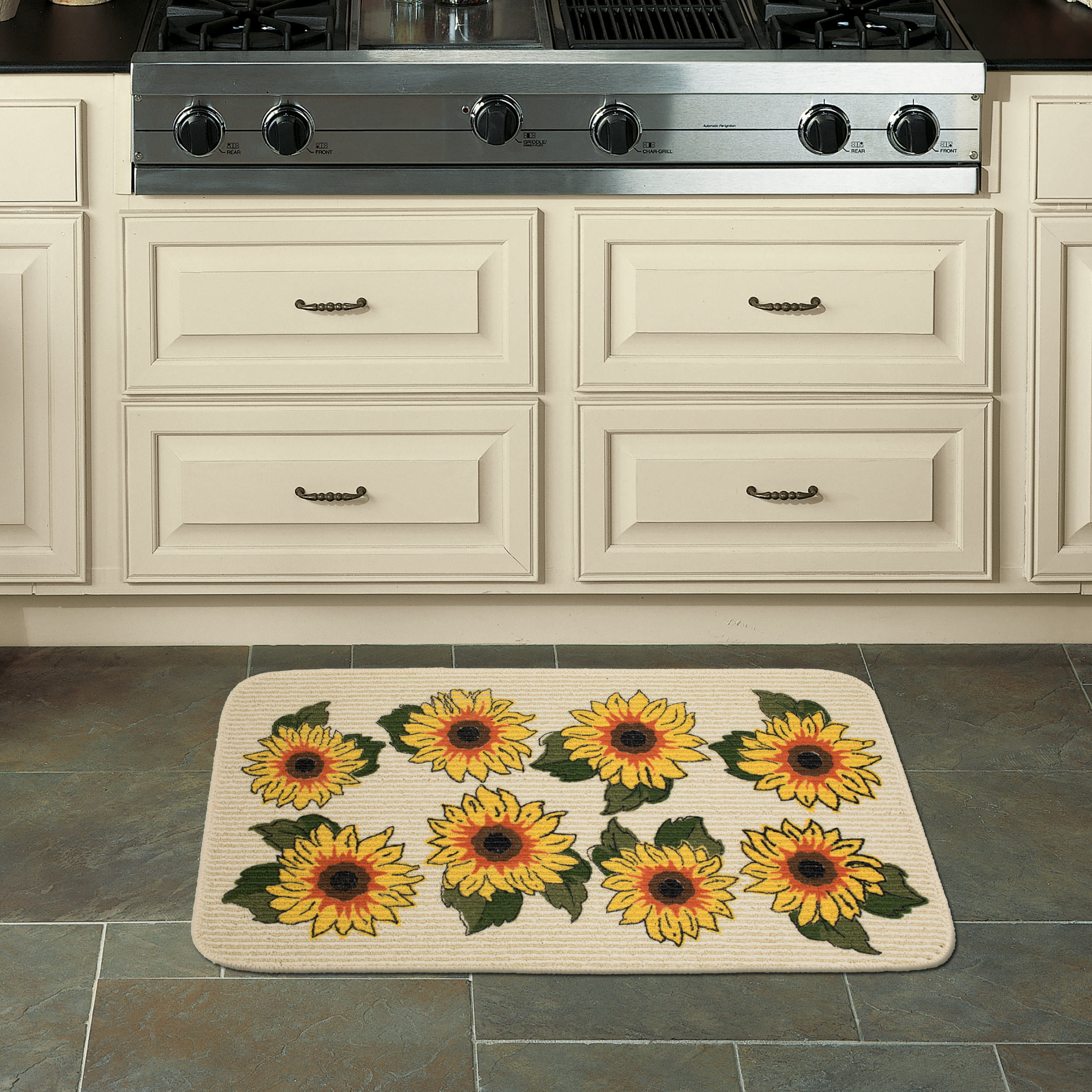 "Kitchen Accessories Walmart: Mainstays Sunflower Kitchen Mat, 18"" X 30"""