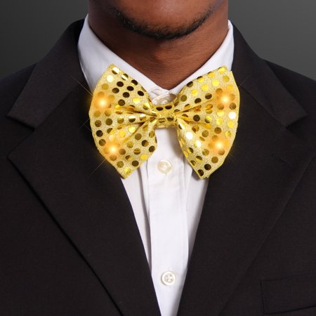 FlashingBlinkyLights Sequin Bow Tie with LEDs](Led Necktie)