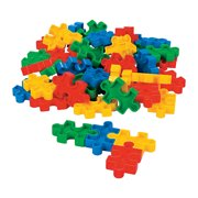 Fun Express - Puzzle Shaped Block Set (50pc) - Toys - Active Play - Blocks & Construction - 50 Pieces