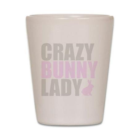 Glass Bunny - CafePress - CRAZY BUNNY LADY - Shot Glass, Unique and Funny Shot Glass