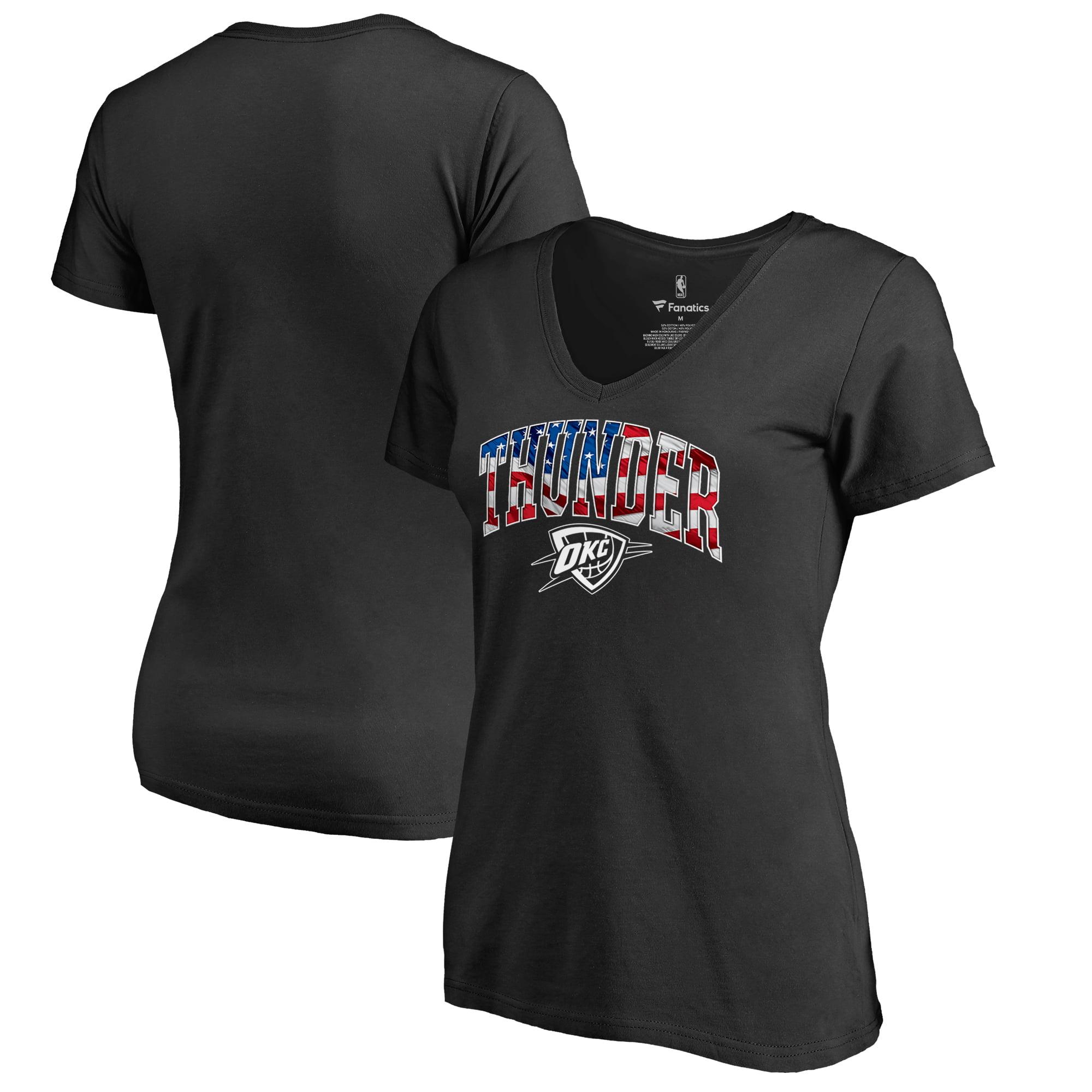 Oklahoma City Thunder Women's Banner Wave T-Shirt - Black