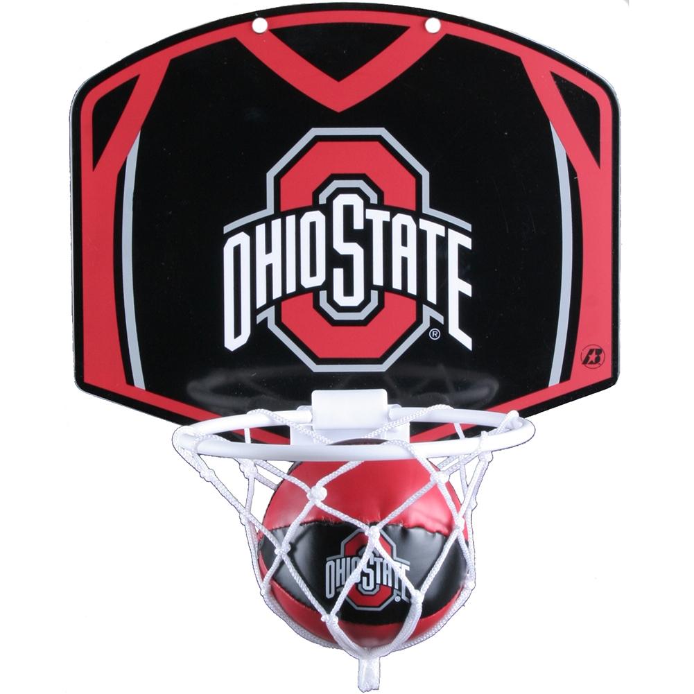 Ohio State Buckeyes Mini Basketball And Hoop Set