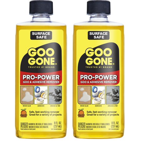 Adhesive Caulk Remover - Goo Gone Pro-Power Adhesive Remover - 8 Ounce [ 2 Pack ] - Use On Silicone, Caulk, Contractor's Adhesive, Tar, Adhesive and More