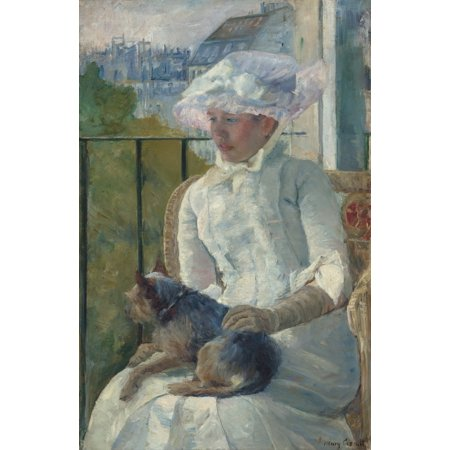 Young Girl At A Window By Mary Cassatt 1883 84 American Painting Oil On Canvas A Young Woman Poses In The Window Of The Cassatts Paris Studio Poster Print