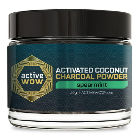 Whitening Spearmint - Active Wow Charcoal Teeth Whitening Spearmint