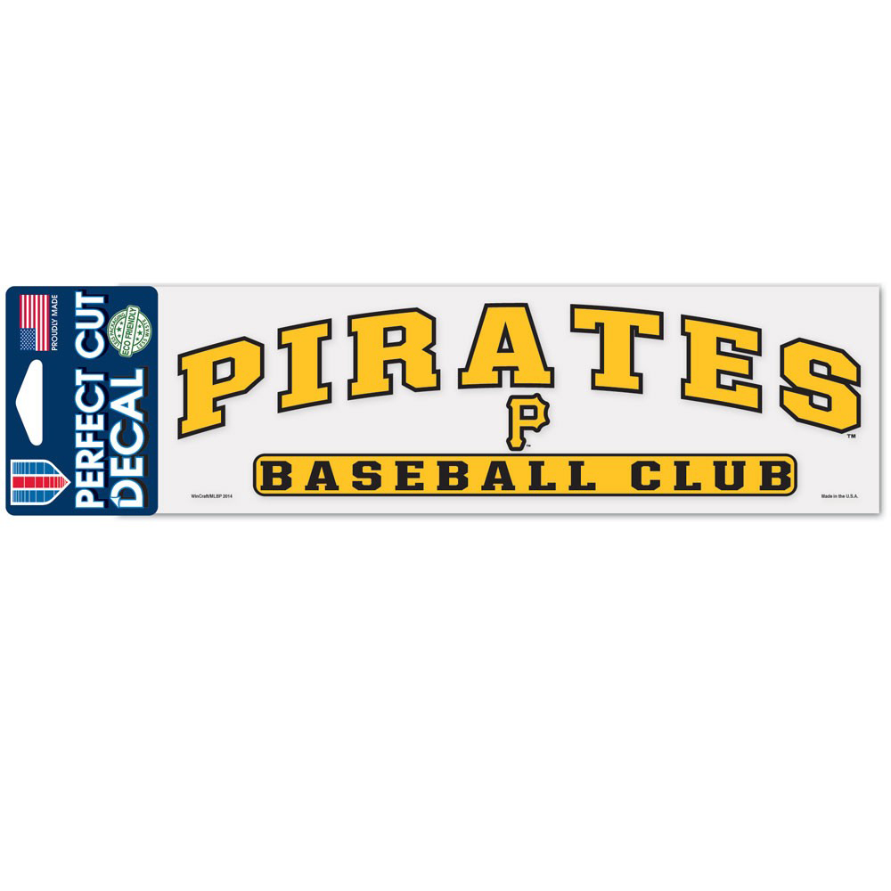 """Pittsburgh Pirates WinCraft 3"""" x 10"""" Arch Perfect Cut Decal - No Size"""