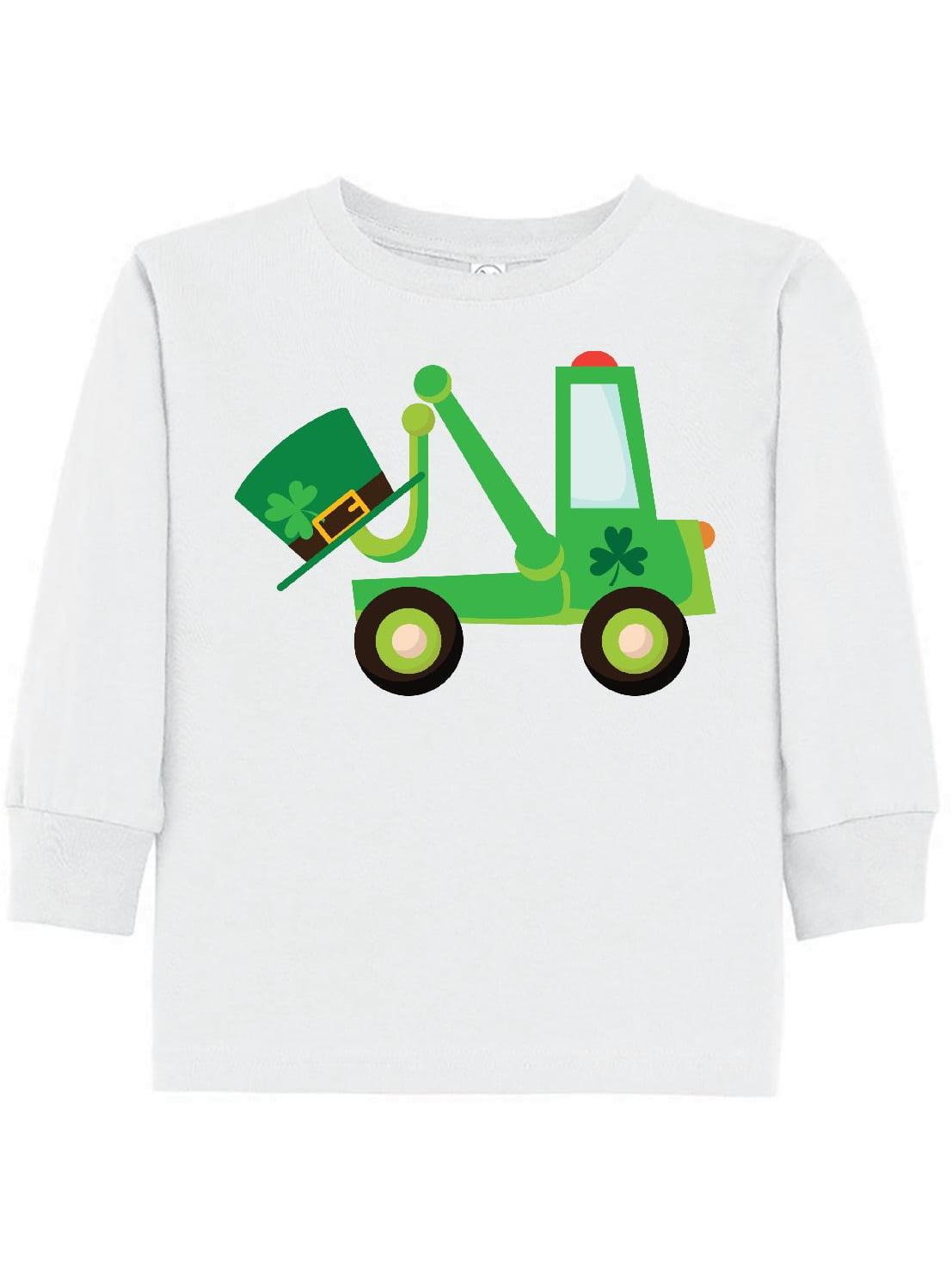 St Patricks Tow Truck Toddler Long Sleeve T-Shirt