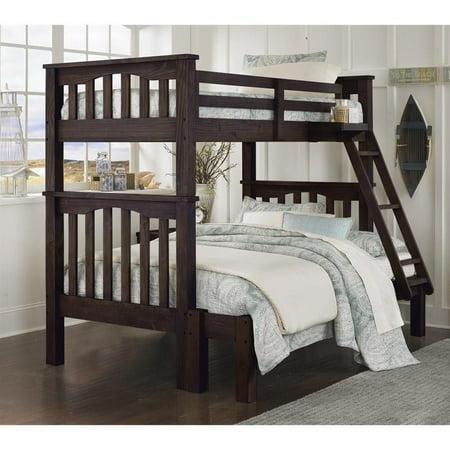 NE Kids Highlands Harper Twin over Full Bunk Bed in Espresso - image 1 of 1