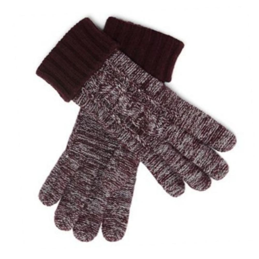 Liz Claiborne Women Burgundy Wool Touch Screen Texting Gloves Ipod IPhone