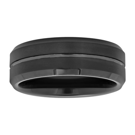 mens black tungsten 8mm comfort fit wedding band mens ring