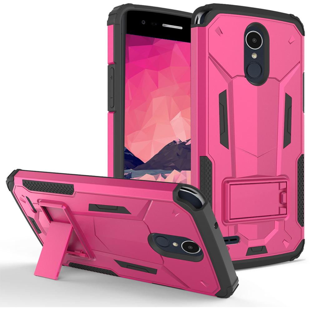 check out 15bdb dccab LG Stylo 3 Case, Zizo [Hybrid Dual Layered] Case with [Built in Kickstand]  Slim and Shockproof [UV Coated] Metallic PC Cover for LG Stylo 3 Plus