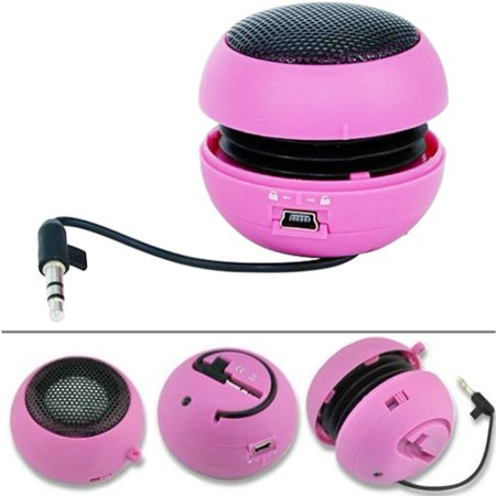 Wired Portable Loud Speaker Pink Multimedia Audio System w Built-in Battery Compatible With iPad 9.7 3 2 (Best Portable Speakers For Ipad)