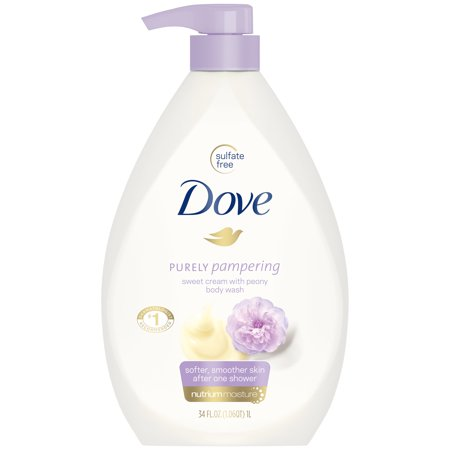 (2 pack) Dove Purely Pampering Sweet Cream & Peony Body Wash Pump, 34 (Dove Cream Wash)