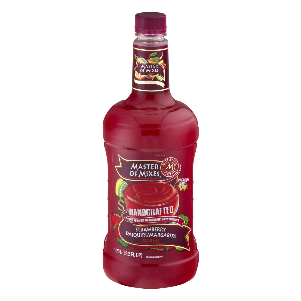 Master of Mixes Handcrafted Strawberry Daiquiri/Margarita Mixer, 1.75 L