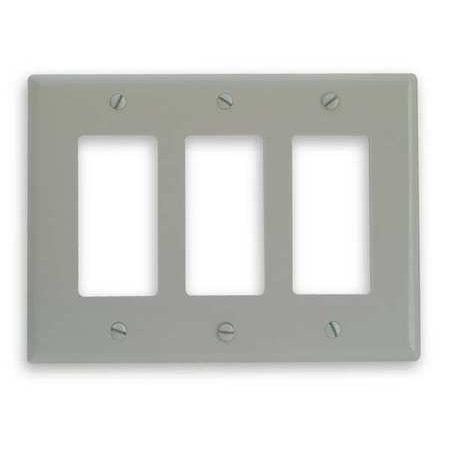 EDWARDS SIGNALING FSAT3 Triple Gang Faceplate,H 5 x W 6 3/4 In