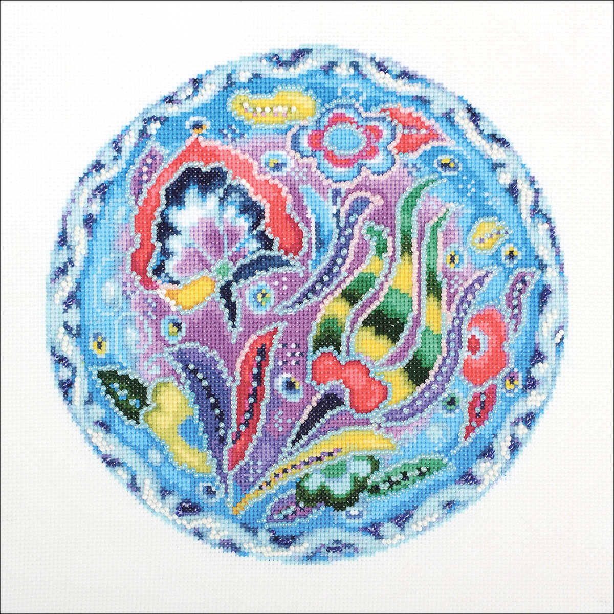"""RTO Counted Cross Stitch Kit 9""""X9""""-Sky Colours Of The East I (14 Count)"""