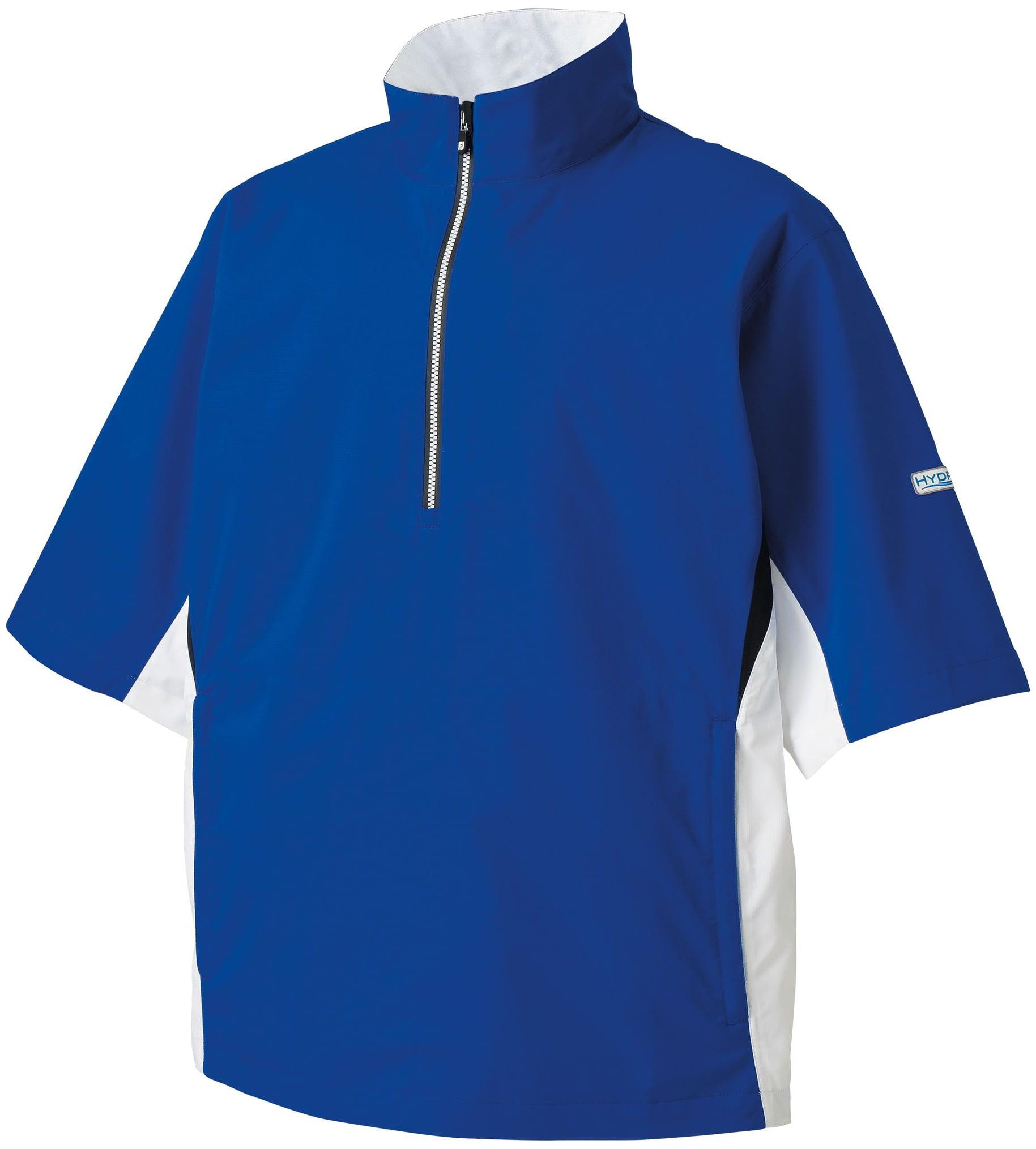 FootJoy Men's HydroLite Short Sleeve Golf Rain Shirt (Roy...