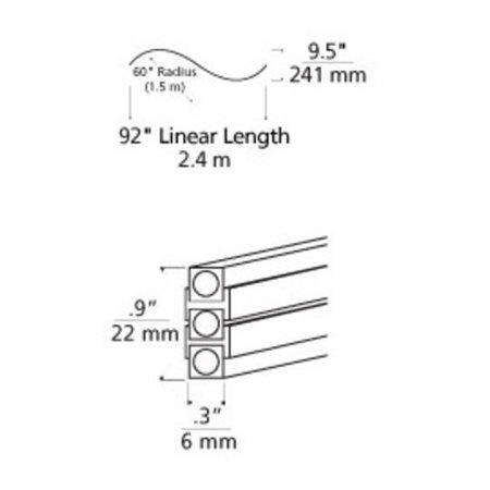 Tech Lighting 700MO2BHSC60S Pre-Bent S Curve Two Circuit
