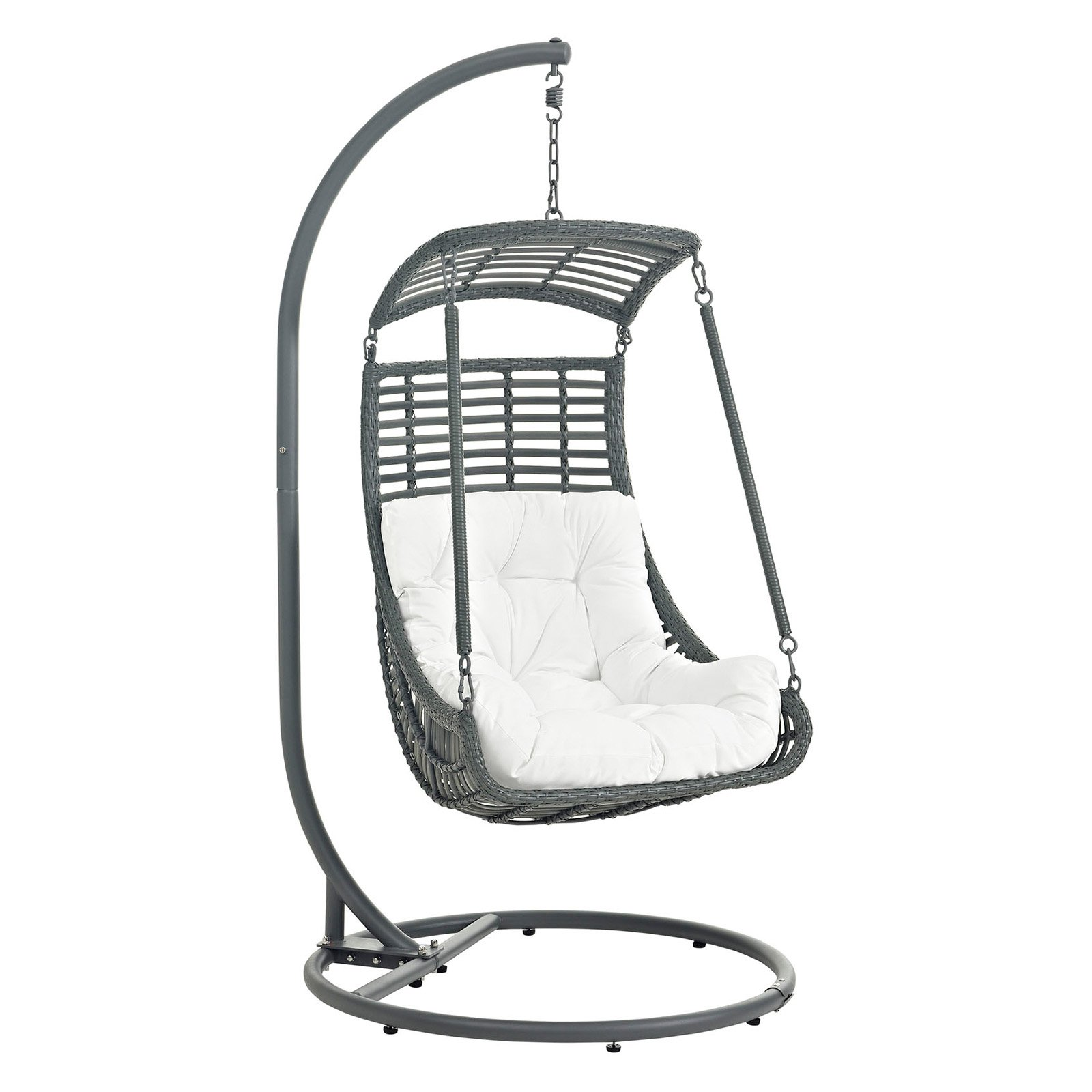 Modway Jungle Outdoor Patio Swing Chair, Multiple Colors Available