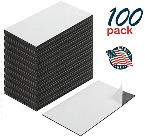 Self Adhesive Business Card Magnets, Peel and Stick, Great Promotional Product, Value Pack of 100
