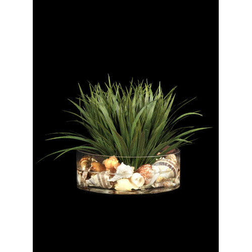Tree Masters Inc. Grass with Shells Center Piece