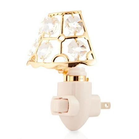24K Gold Plated Lamp Shade Night Light