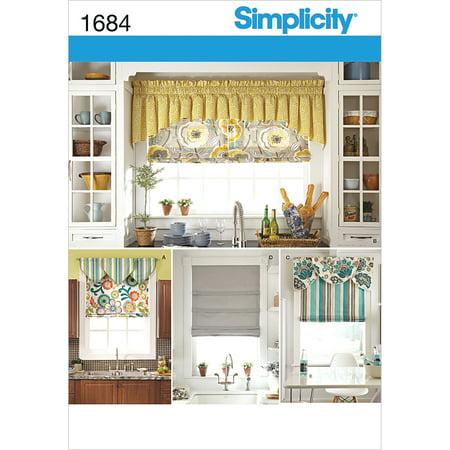 Simplicity Crafts Home Decor Roman Shades & Valances Pattern, 1 Each Roman Home Decor
