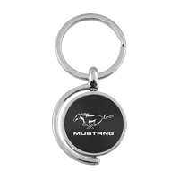3ef69b923fef Product Image Au-TOMOTIVE GOLD Mustang Black Spinner Key Fob