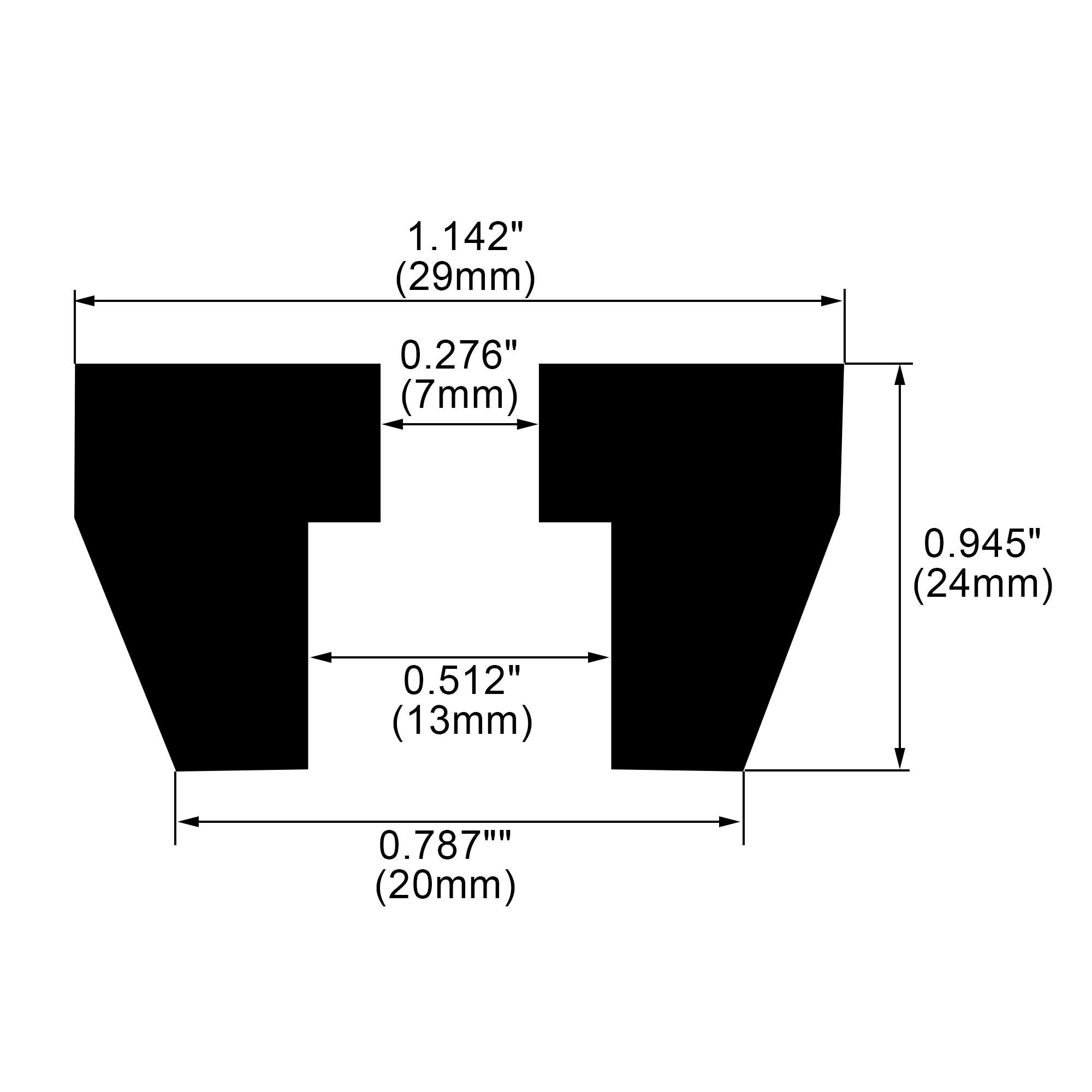 38pcs Rubber Feet Bumper Furniture Table Amplifier Speaker Desk Leg Pads, D29x20xH24mm - image 2 of 7