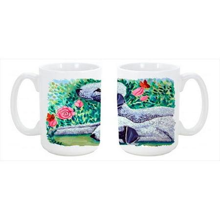 Bedlington Terrier Dishwasher Safe Microwavable Ceramic Coffee Mug 15 oz. - image 1 de 1