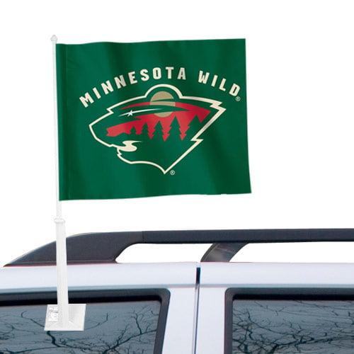 """Minnesota Wild WinCraft 11"""" x 13"""" Two-Sided Car Flag - No Size"""