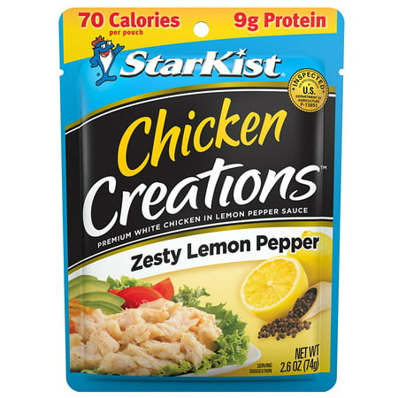 (3 Pack) StarKist Chicken Creations Zesty Lemon Pepper Chicken, 2.6 oz.