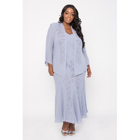 R&M Richards - R&M Richards Plus Size Long Formal Mother of the ...