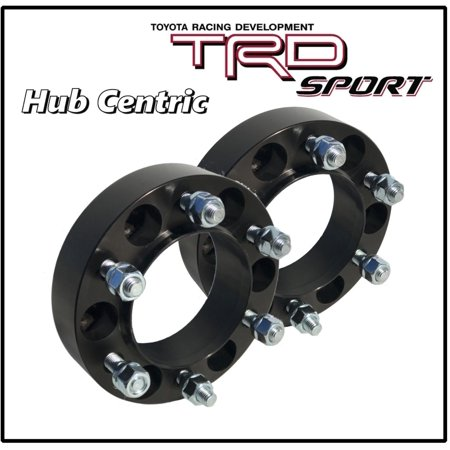 "2 Pc Toyota 1.25"" Thick Hub Centric Wheel Spacers Tacoma Tundra 4 Runner Black"