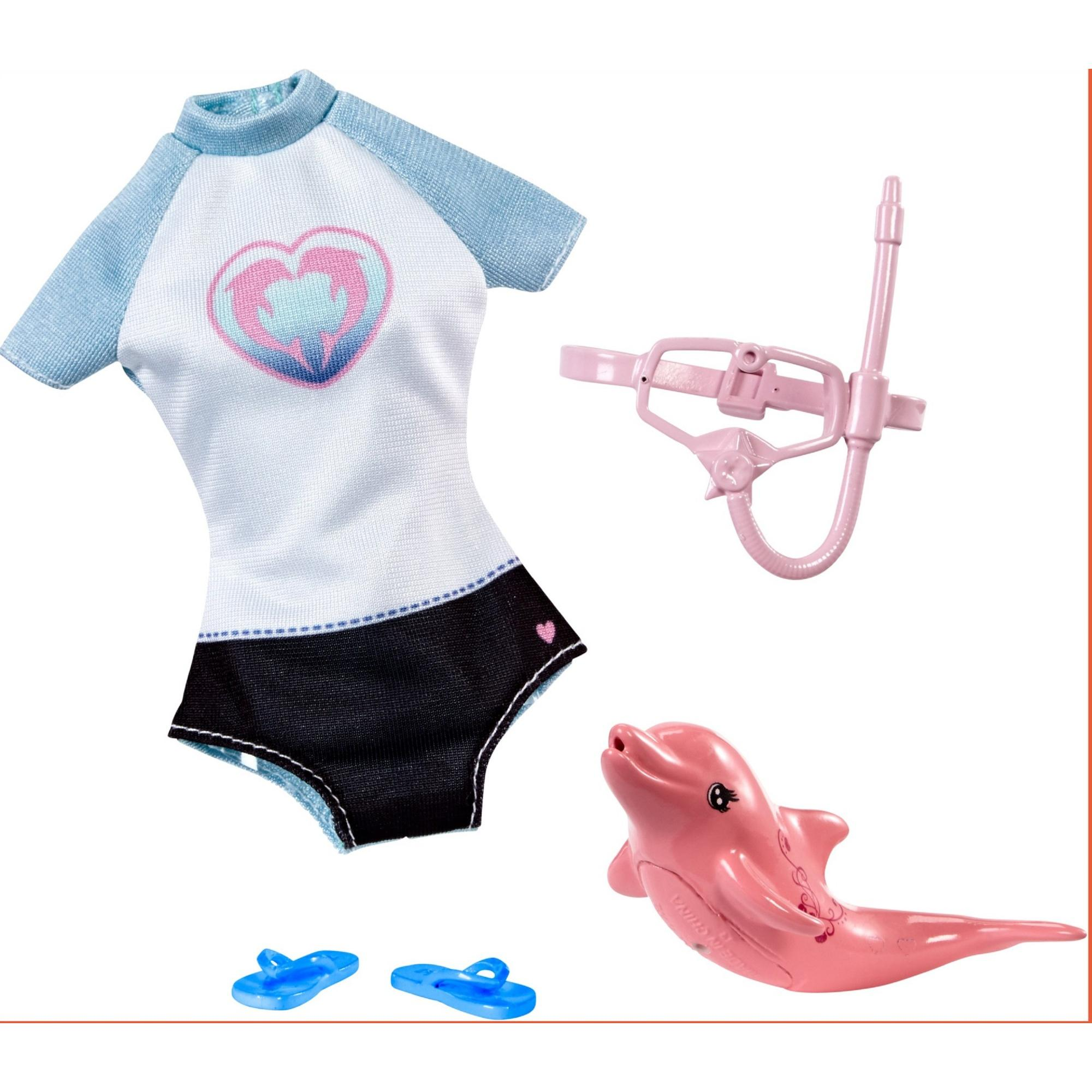 Barbie Dolphin Magic Snorkel Set Fashion Pack