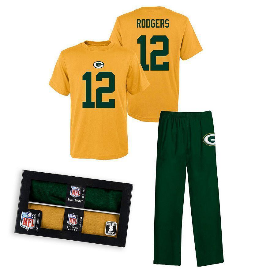 Aaron Rodgers Green Bay Packers NFL Sleepwear 2 PC Pajama...