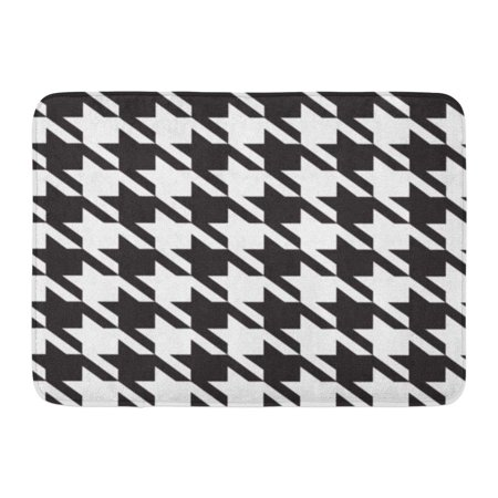 LADDKE Houndstooth Hounds Tooth Pattern Black and White Abstract Birthday Doormat Floor Rug Bath Mat 23.6x15.7 (Welcome Tooth)