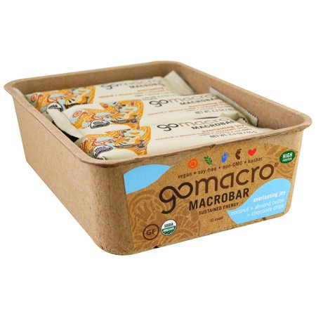 GoMacro, Macrobar, Everlasting Joy, Coconut + Almond Butter + Chocolate Chips, 12 Bars, 2.3 oz (65 g) Each(pack of 1)
