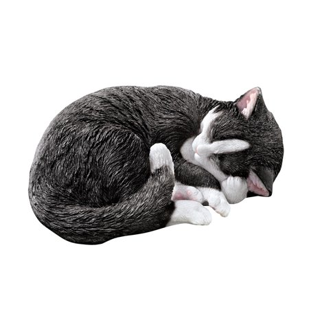 Collections Etc Sleeping Seymour Tuxedo Cat Statue Cute