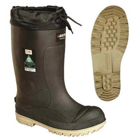 Steel Toe Pac Boots - Baffin Size 10 Steel Toe Pac Winter Boots, Men's, Black/Amber, 23590000